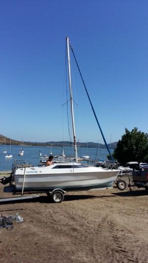 Vendo velero nautisail 19 pie con motor mariner